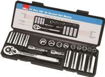 Hilka 3/8 Inch Drive Socket Set Metric - 21 Piece